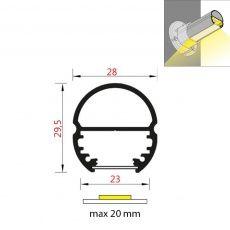 FKU45 - šatní tyč