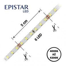 LED pásky 5mm šíře,  24 V
