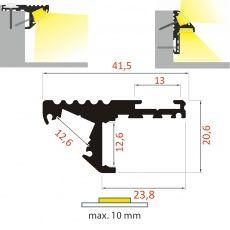 FKU80 - schodový profil