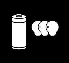 Náhradní žárovky a baterie