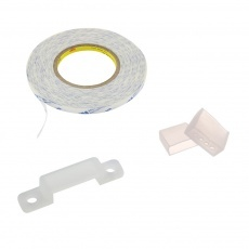 Pásky samolepící, koncovky, příchytky