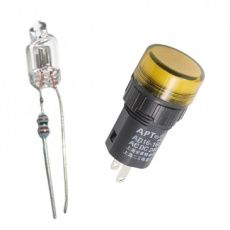 Doutnavky,  žárovky a kontrolky