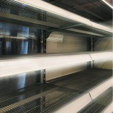 Osvětlení kovových prodejních regálů 24V